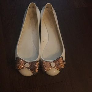 Ted backer jelly ballet flats sparkle bow